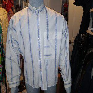 VINTAGGianni Versace White button-down long-sleeve